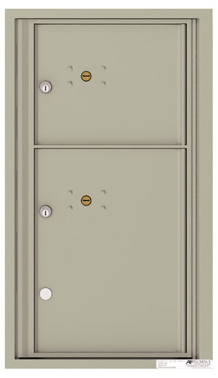 4C08S-2P Front Loading Commercial Surface Mount 4C Parcel Lockers – 2 Parcel Lockers