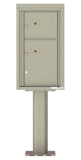 Commercial 4C Pedestal Mailboxes – 4C08S-2P-P Parcel Lockers – 2 Parcel Lockers