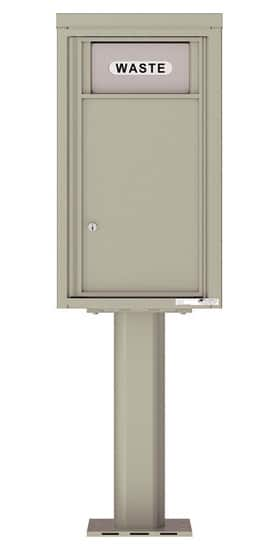 4C Pedestal Mailboxes 4C08S-Bin-P Trash and Recycling Bin Product Image