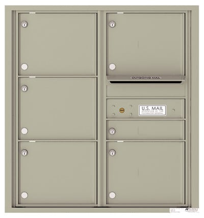 4C09D-06 Front Loading Commercial Surface Mount 4C Mailboxes – 6 Tenant Doors