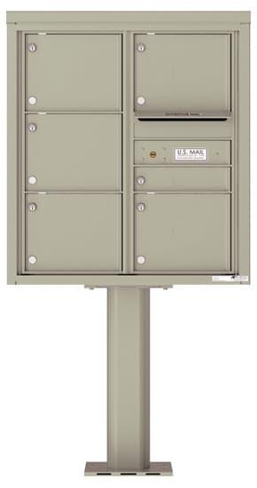 4C09D-06-P Commercial 4C Pedestal Mailboxes – 6 Tenant Doors Product Image