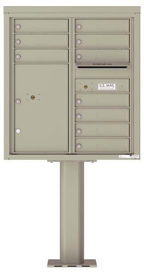 4C09D-10-P Commercial 4C Pedestal Mailboxes – 10 Tenant Doors 1 Parcel Locker