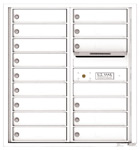 Florence 4C Mailboxes 4C09D-15 White