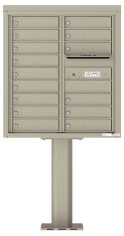 4C09D15-P Commercial 4C Pedestal Mailboxes