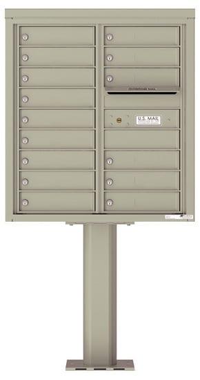 4C09D-15-P Commercial 4C Pedestal Mailboxes – 15 Tenant Doors