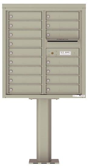 4C09D-16-P Commercial 4C Pedestal Mailboxes – 16 Tenant Doors