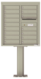 Florence 4C Pedestal 4C09D-16-P Postal Grey