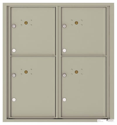 4C09D-4P Front Loading Private Use Commercial 4C Parcel Lockers – 4 Parcel Lockers