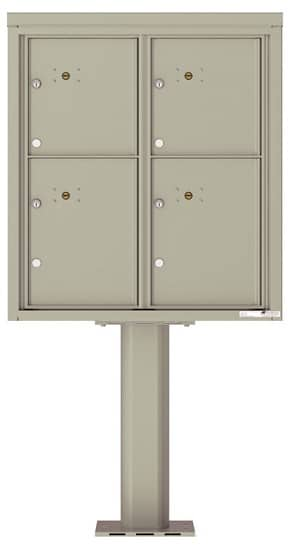 Commercial 4C Pedestal Mailboxes – 4C09D-4P-P Parcel Lockers – 4 Parcel Lockers