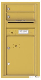 Florence 4C Mailboxes 4C09S-02 Gold Speck