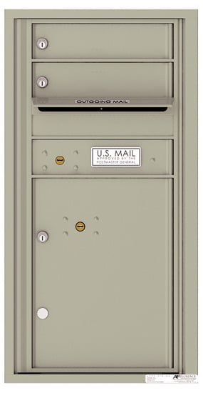 4C09S-02 Front Loading Commercial 4C Mailboxes – 2 Tenant Doors 1 Parcel Locker