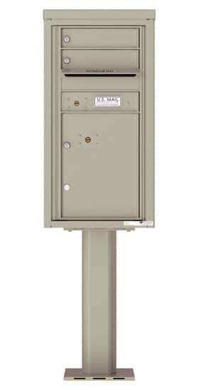 4C09S-02-P Commercial 4C Pedestal Mailboxes – 2 Tenant Doors 1 Parcel Locker Product Image
