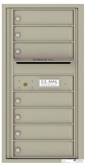 4C09S-07 Front Loading Private Use Commercial 4C Mailboxes – 7 Tenant Doors