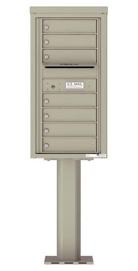 4C09S07-P Commercial 4C Pedestal Mailboxes