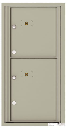 4C09S-2P Front Loading Commercial Surface Mount 4C Parcel Lockers – 2 Parcel Lockers Product Image