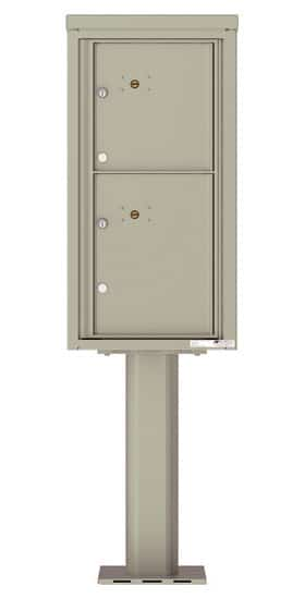 Commercial 4C Pedestal Mailboxes – 4C09S-2P-P Parcel Lockers – 2 Parcel Lockers