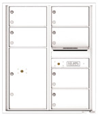 Florence 4C Mailboxes 4C10D-06 White