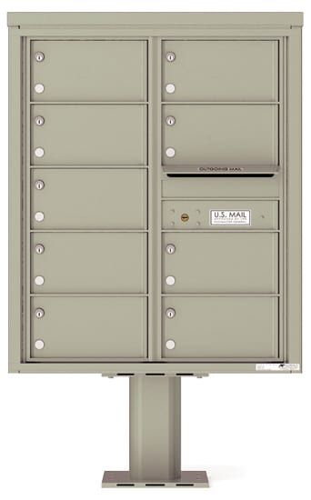 4C10D-09-P Commercial 4C Pedestal Mailboxes – 9 Tenant Doors