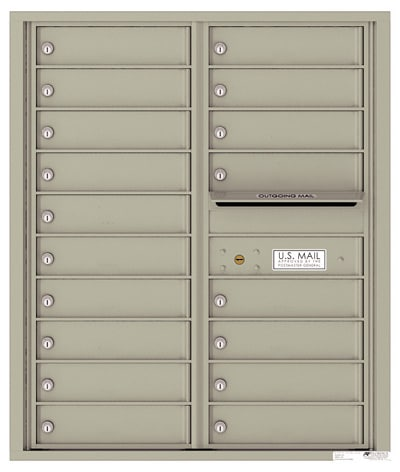 4C10D18 4C Horizontal Commercial Mailboxes