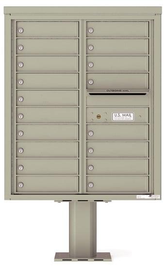 4C10D18-P Commercial 4C Pedestal Mailboxes