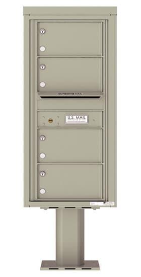 4C10S-04-P Commercial 4C Pedestal Mailboxes – 4 Tenant Doors