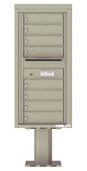 4C10S-08-P Commercial 4C Pedestal Mailboxes – 8 Tenant Doors