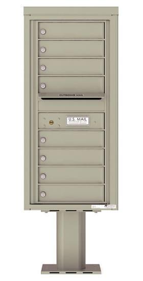 4C10S-08-P Commercial 4C Pedestal Mailboxes – 8 Tenant Doors Product Image