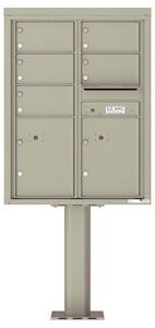 Florence 4C Pedestal 4C11D-05-P Postal Grey