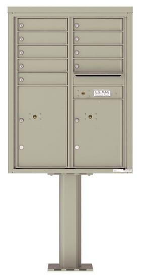 4C11D-09-P Commercial 4C Pedestal Mailboxes – 9 Tenant Doors 2 Parcel Lockers