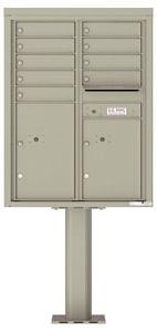 Florence 4C Pedestal 4C11D-09-P Postal Grey
