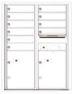 Florence 4C Mailboxes 4C11D-10 White
