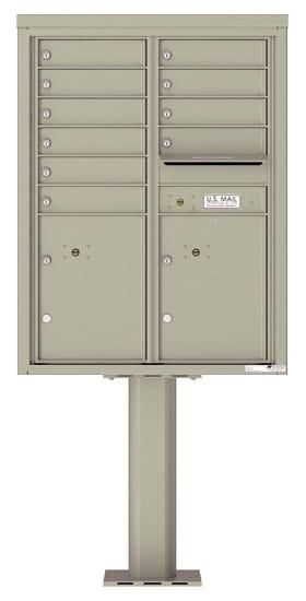 4C11D-10-P Commercial 4C Pedestal Mailboxes – 10 Tenant Doors 2 Parcel Lockers Product Image