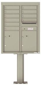 Florence 4C Pedestal 4C11D-10-P Postal Grey