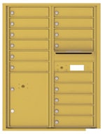 Florence 4C Mailboxes 4C11D-15 Gold Speck