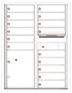 Florence 4C Mailboxes 4C11D-15 White