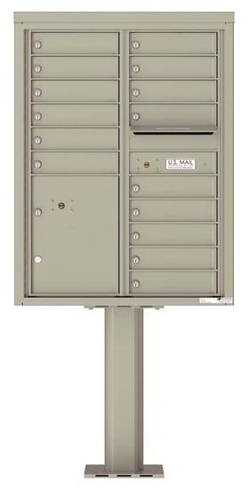 4C11D-15-P Commercial 4C Pedestal Mailboxes – 15 Tenant Doors 1 Parcel Locker