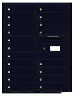 Florence 4C Mailboxes 4C11D-19 Black