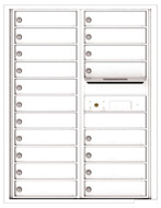 Florence 4C Mailboxes 4C11D-19 White