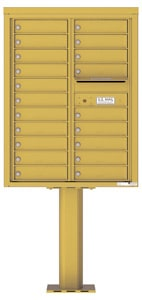 Florence 4C Pedestal 4C11D-20-P Gold Speck