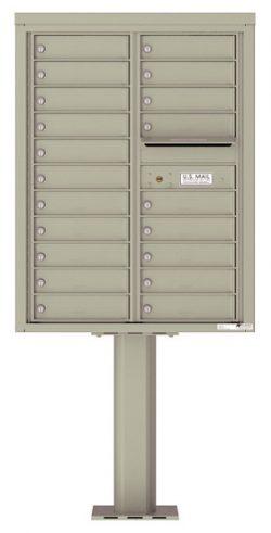 4C11D20-P Commercial 4C Pedestal Mailboxes