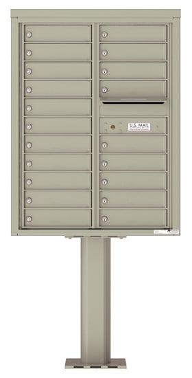 4C11D-20-P Commercial 4C Pedestal Mailboxes – 20 Tenant Doors