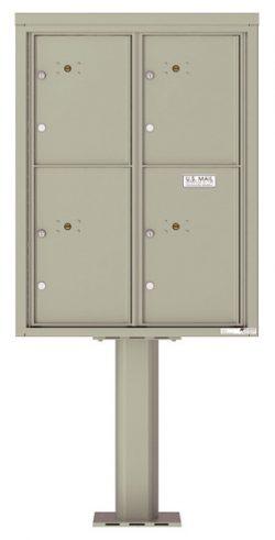 4C11D4P Parcel Lockers 4C Pedestal Mailboxes