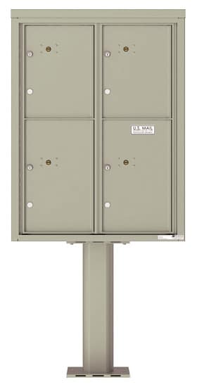 Commercial 4C Pedestal Mailboxes – 4C11D-4P-P Parcel Lockers – 4 Parcel Lockers