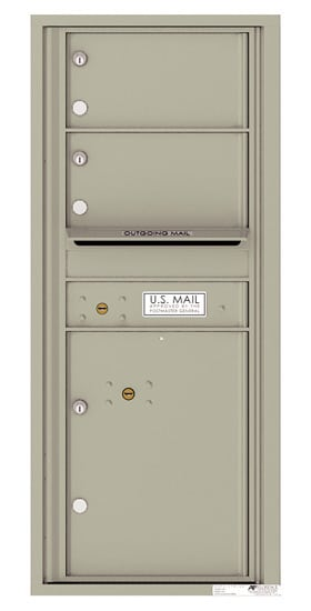 4C11S-02 Front Loading Private Use Commercial 4C Mailboxes – 2 Tenant Doors 1 Parcel Locker