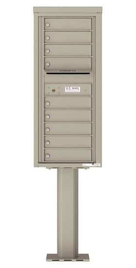 4C11S-09-P Commercial 4C Pedestal Mailboxes – 9 Tenant Doors