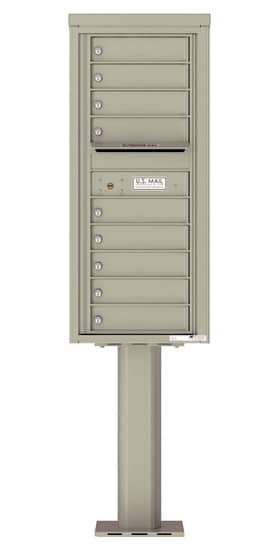 4C11S-09-P Commercial 4C Pedestal Mailboxes – 9 Tenant Doors Product Image