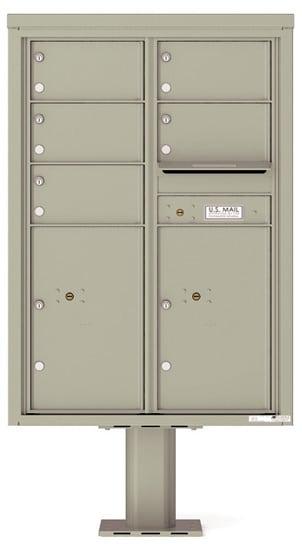 4C12D-05-P Commercial 4C Pedestal Mailboxes – 5 Tenant Doors 2 Parcel Lockers