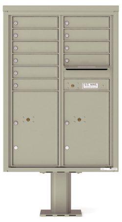 4C12D10-P Commercial 4C Pedestal Mailboxes
