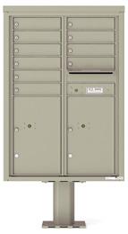 Florence 4C Pedestal 4C12D-10-P Postal Grey