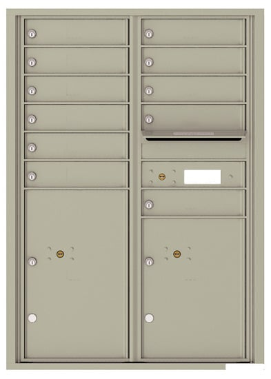 4C12D-11 Front Loading Private Use Commercial 4C Mailboxes – 11 Tenant Doors 2 Parcel Lockers
